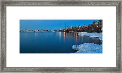 Duluth Dawn Framed Print by Gregory Israelson