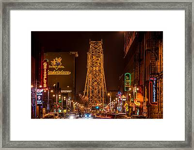 Duluth Lake Avenue Framed Print by Paul Freidlund