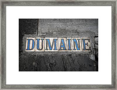 Dumaine Framed Print