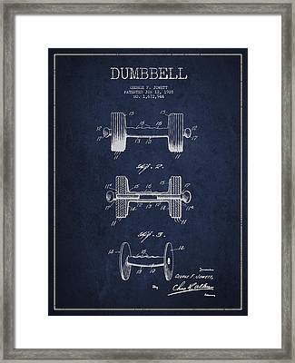 Dumbbell Patent Drawing From 1927 Framed Print