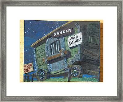 Framed Print featuring the drawing Dumbo by Joseph Hawkins