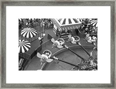 Dumbo Ride Disney World Circa 1995 Framed Print