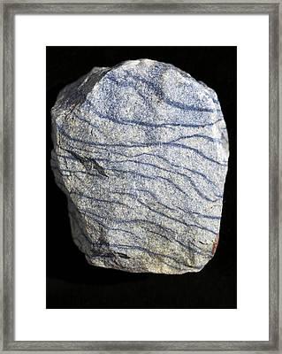 Dumortierite Veins In Quartzite Framed Print by Dirk Wiersma