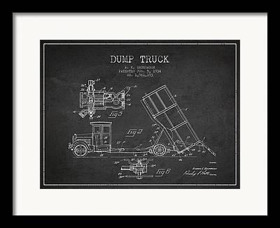 Garbage Truck Framed Prints