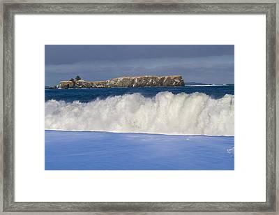 Dumping Surf Framed Print by Tim Grams