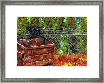 Dumpster No.7 Framed Print by Blake Grigorian