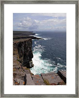 Dun Aengus Cliffs Framed Print by Keith Stokes