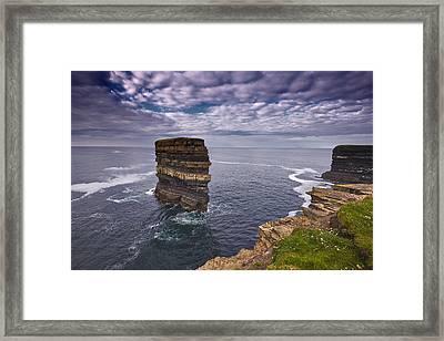 Dun Briste Downpatrick Head  Co Mayo Framed Print by Michael Walsh