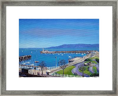 Dun Laoghaire Pier Dublin Framed Print by John  Nolan