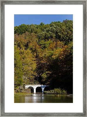 Dunbar Cave And Swan Lake Framed Print