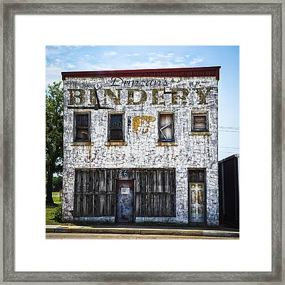 Duncan Bindery Building Front Framed Print by David Waldo