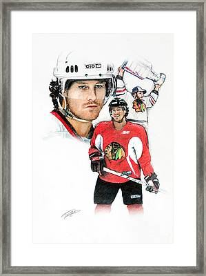Duncan Keith Framed Print by Jerry Tibstra
