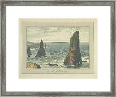 Duncansby Stacks In Caithness Framed Print by British Library