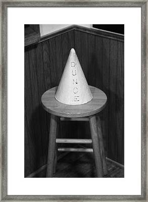 Dunce Hat Framed Print by Dan Sproul