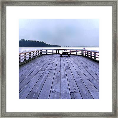 West Vancouver Dundarave Triptych Centre Panel Framed Print by Patricia Keith