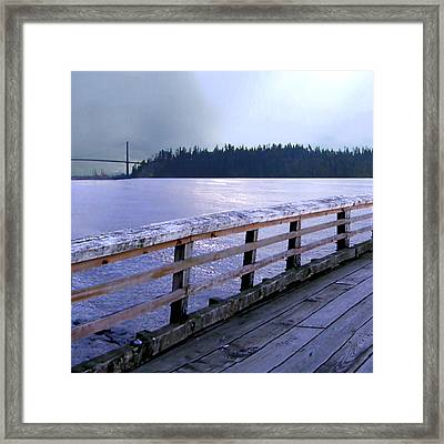 West Vancouver Dundarave Triptych Left Panel Framed Print by Patricia Keith