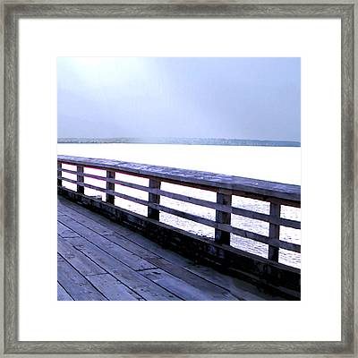 West Vancouver Dundarave Triptych Right Panel Framed Print by Patricia Keith