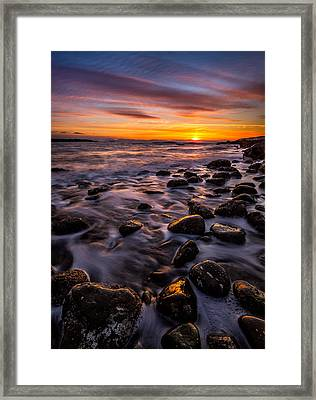 Dundarave Park Sunset Framed Print