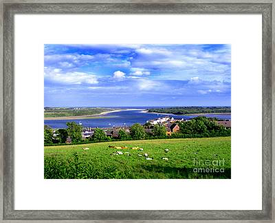 Dundrum Bay Irish Coastal Scene Framed Print by Nina Ficur Feenan