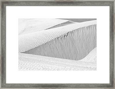 Dune Abstract, Paryang, 2011 Framed Print