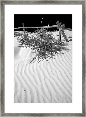 Dune And Black Sky Framed Print by Arkady Kunysz