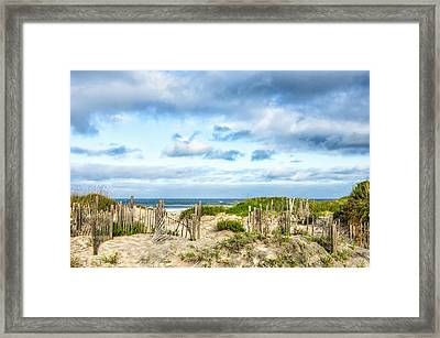 Framed Print featuring the photograph Dune At Coquina Beach by Gregg Southard