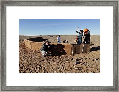 Dune Barrier Testing Framed Print