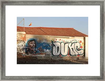 Dune Boathouse Framed Print by Jan Katuin