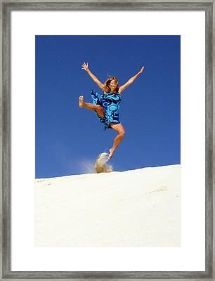 Dune Dance Framed Print by Ramona Johnston