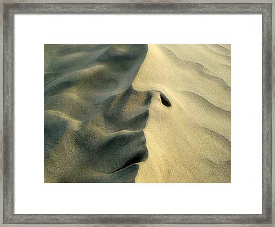 Sleeping Dune Face Framed Print