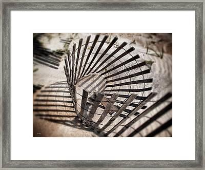 Storm Fence Series 1 Framed Print