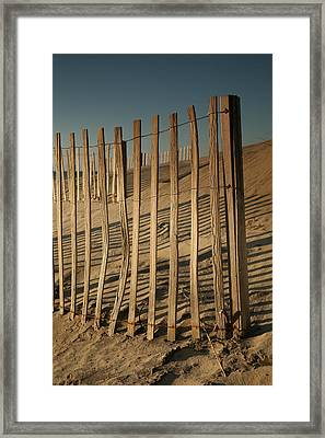 Dune Fences Early Morning II Framed Print by Steven Ainsworth