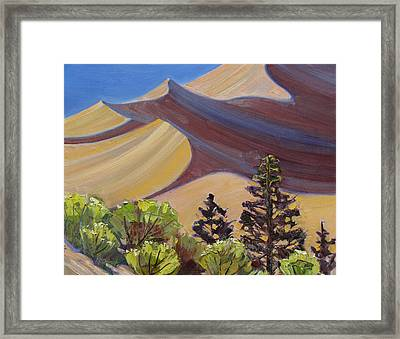 Dune Field Framed Print by Susan McCullough