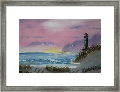Dune Grass At Cape Cod Framed Print by Victor Alderson