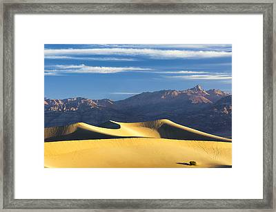 Framed Print featuring the photograph Dune Light by Patrick Downey