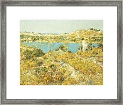 Dune Pool Framed Print by Childe Hassam