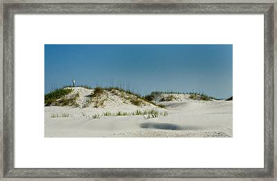 Dune Sign Framed Print