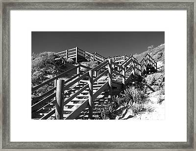 Dune Steps 04 Framed Print by Rick Piper Photography