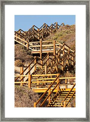 Dune Steps 06 Framed Print by Rick Piper Photography