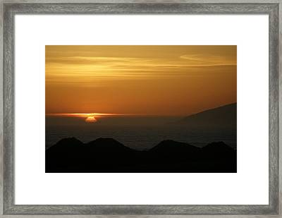 Dune Sunset 1 Framed Print
