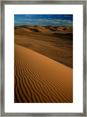 Dune Sunset Framed Print by Scott Cunningham