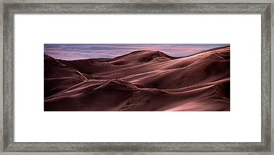 Dune Texture And Light Framed Print by Leland D Howard