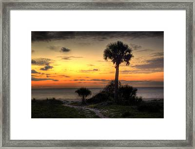 Dune Trail At Sunrise Framed Print by Greg and Chrystal Mimbs
