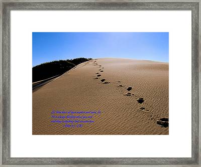 Dune Walk W/scripture Framed Print