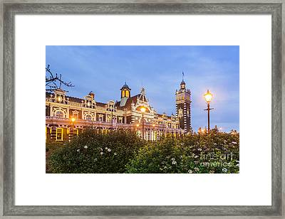 Dunedin Railway Station Framed Print by Colin and Linda McKie