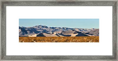 Framed Print featuring the photograph Dunes - Death Valley by Dana Sohr