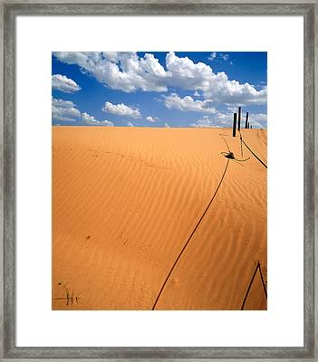 Dunes And Clouds Framed Print