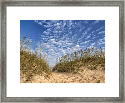 Dunes And Sky Framed Print