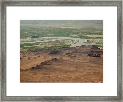 Dunes Around Helmand River Valley Framed Print by Jetson Nguyen