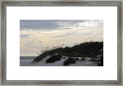 Dunes At Dusk Framed Print by Gayle Melges
